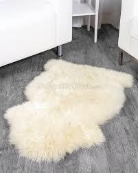 ivory white sheepskin rug 2x3 5 ft