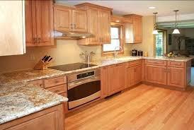 honey oak cabinets what color granite