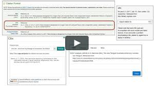 Finding Apa Citations In Library Databases Finding Apa Reference Citations In Library Databases