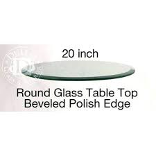 20 round glass table top inch round glass table top 1 2 thick beveled edge annealed 20 round glass table top