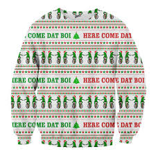 Here Come Dat Boi Frog Christmas Sweater – Shweeet