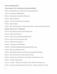 Wedding Schedule Wedding Timeline