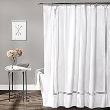 white shower curtains. Lush Decor Hotel Collection Shower Curtain, 72\ White Shower Curtains L