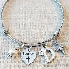 confirmation sponsor thank you gift personalized catholic confirmation sponsor bracelet confirmation sponsor gift