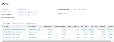 Sales Lines Margin On Order Lines Sales Orders Form Odoo Apps
