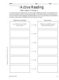 Active Reading Night Chapters 6 Through 9 Chart