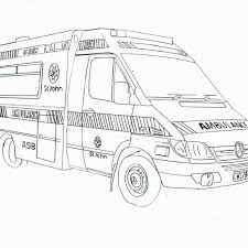 Printable Coloring Pages For April Adults With Dementia Ambulance