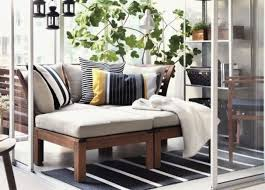 outdoor ikea furniture. A Balcony With Greenery, An Applaro Sofa And Lanterns Over It Outdoor Ikea Furniture