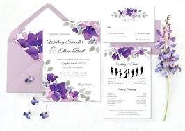 Purple Wedding Cards Grainsdor Com