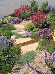 Small Picture Natural flagstone staircase wanders through a xeric garden on a