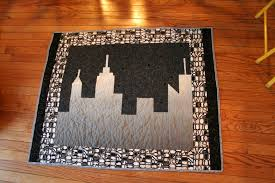 Skylar's skyline quilt | Melanie Tuazon & The quilting is my usual meandering loops. Adamdwight.com