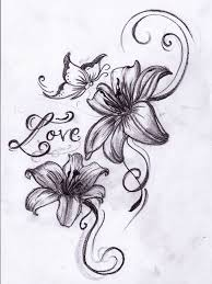 Flowers With Designs Butterfly With Flower Tattoo Designs Tribal Flower And