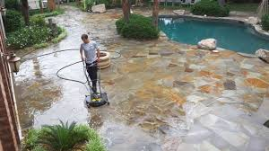 image result for cleaning bluestone patio