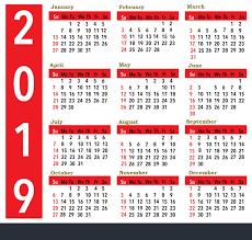 Calendar Year 2019 Printable Print Calendar Year 2019 Printable Yearly Calendar 2019 Free