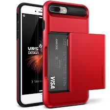 apple 8 plus case. vrs design damda glide iphone 8 plus / 7 case - apple red