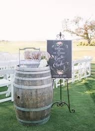 ... chic rustic barn wedding ideas with wine barrel decorations