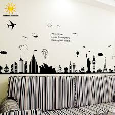 modern removable wall stickers large black eiffel tower sydney