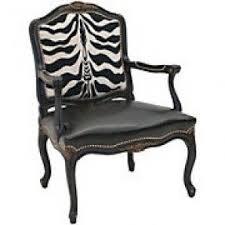 zebra arm chair. Zebra Print Carved Arm Chair Z