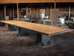I Beam Maple Conference Table 3a