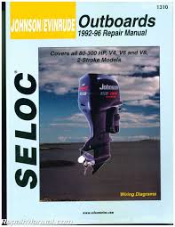 sl1310 seloc 1992 1996 johnson evinrude 4 6 8 cylinder 2 stroke sl1310 seloc 1992 1996 johnson evinrude 4 6 8 cylinder 2 stroke outboard boat engine repair manual manufacturer amazon com books