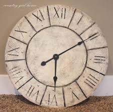 oversized wall clock wood decor rustic wooden large wall clocks