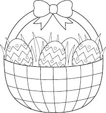Easter Basket Coloring Printable Trustbanksurinamecom