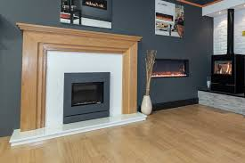 wooden fireplace surround showroom example