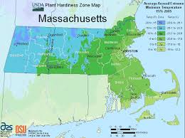 Plant Hardiness Zone Chart Massachusetts Zone Map For Hardiness And Planting