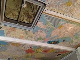 Mod Podge Kitchen Table Mod Podge Your Pop Up Camper Ceiling With Old Maps Camper Pop