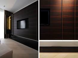 holzdesign interieuer with wall panels for modern bedroom