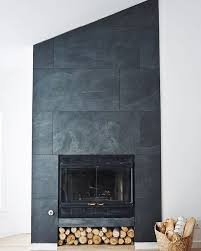 ... Gorgeous Inspiration Slate Tile Fireplace Surround 20 Fireplace  Refacing ...