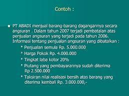 Maybe you would like to learn more about one of these? Contoh Soal Dan Jawaban Penjualan Angsuran Berbagai Contoh