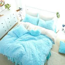 bedding set for girls white blue princess girls bedding set thick fleece warm winter bed with