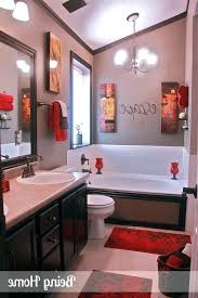 yellow and red bathroom ideas fresh red bathroom decor idea black and best on decorative towel
