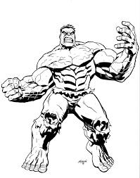 Big Muscle Incredible Hulk Coloring Page