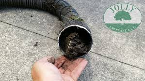 crushed clogged black corrugated downspout pipe from home depot or menards 3 000 pound crush pvc