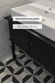 antique dresser into a vanity