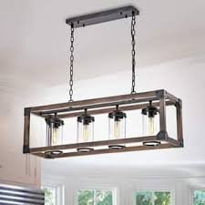 rectangular pendant light. Daniela Chic Antique Black Metal And Wood Bubble Glass Cylinders Rectangular Pendant Chandelier Light