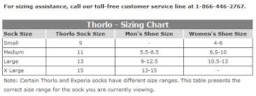 Thorlo Experia Socks Size Chart 24 Prototypic Thorlo Experia Size Chart