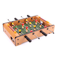 Miniature Wooden Foosball Table Game HUANGGUAN TOYS HG100 Mini Foosball Table Soccer Football Table 2