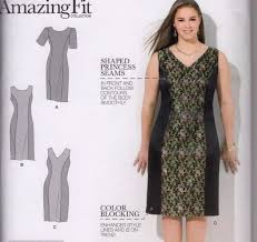 Plus Size Dress Patterns Cool Simplicity Sewing Pattern 48 BB Women's Plus Size Fit Dress Uncut