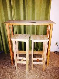 awesome pallet bar table with stools