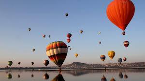 hot air balloon image. Simple Air Hotair Balloons And Their Reflections Along A Coastline And Hot Air Balloon Image R