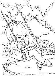 Small Picture Animations A 2 Z Coloring pages of Rainbow Brite