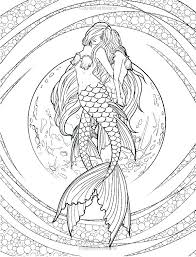 Coloring Pages Of Realistic Mermaids Realistic Mermaid Coloring