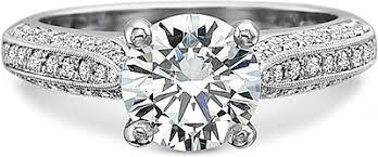 Precision Set Triple Row Bead Set Diamond Engagement Ring 7726