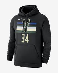 Giannis Antetokounmpo Milwaukee Bucks Nike Mens Nba Hoodie