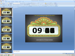Powerpoint Animated Presentation Template Countdown Timer