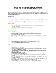 How To Do A Simple Resume Resume Howo Make Formatemplate In Word Create Simple Resumes On 19