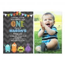 Lil Monster Birthday Invitations Little Monster Birthday Party Invitation Chalk 181290